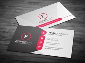 attractive amp modern corporate business card template