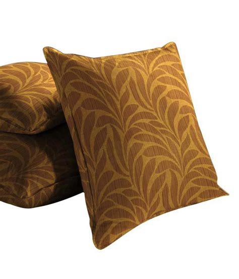 leaf pattern cushions skipper brown leaf pattern cushion cover set of 3 buy