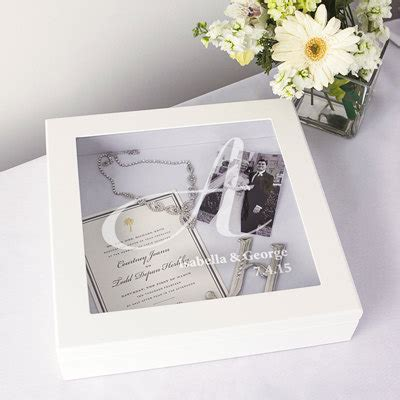 Wedding Wishes Display by Personalized Engraved Wedding Wishes Shadow Box Reception