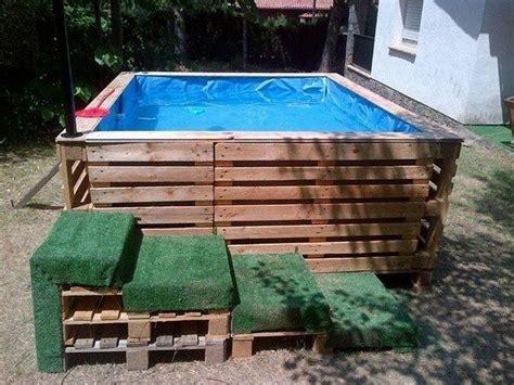 mini pool selber bauen pool aus paletten selber bauen wichtige tipps und ideen