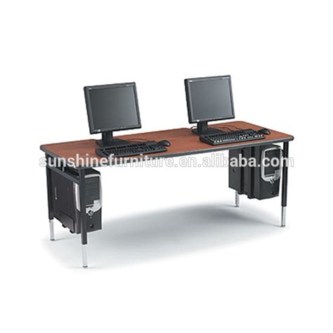 long computer desk cheap modern design wooden long 2 person computer table