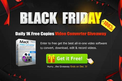 Best Black Friday Giveaways - black friday giveaway get one of the best video converters for mac