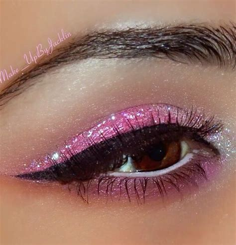 haunted quince doll pink glitter eyeshadow eye make up glitter