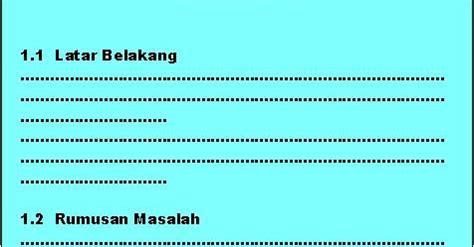 membuat makalah kir format bab pendahuluan remaja kir indonesia