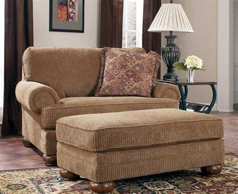 Armchair Living Room Large Chairs For Living Room In Brown Color With Ottoman