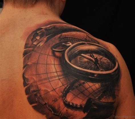 tattoo compass back 50 amazing compass tattoos on shoulder