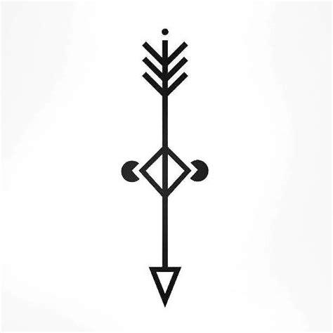 geometric arrow change tattoo design