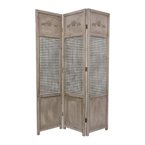 lowes room dividers shop furniture room dividers 3 panel distressed wood folding indoor privacy screen at