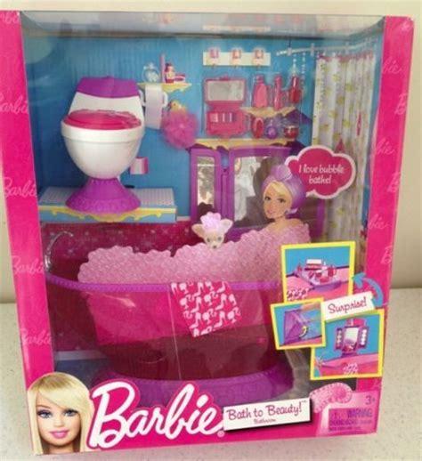 barbie glam bathroom barbie glam bath to beauty hot pink bathroom furniture tub