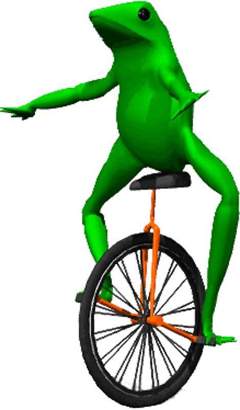 Unicycle Meme - quot dat boi meme unicycle frog quot stickers by joedaeskimo