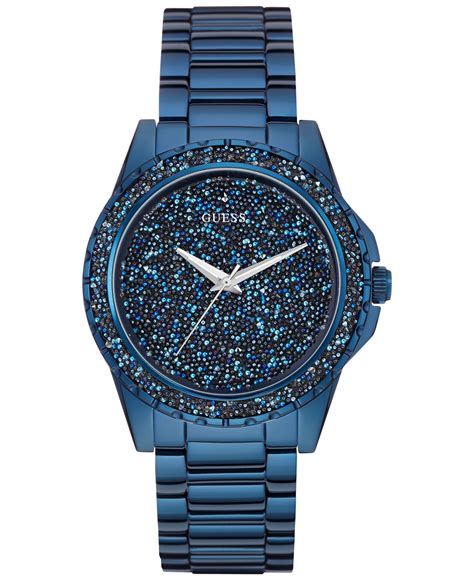 Guess Blue guess s blue ion plated stainless steel bracelet