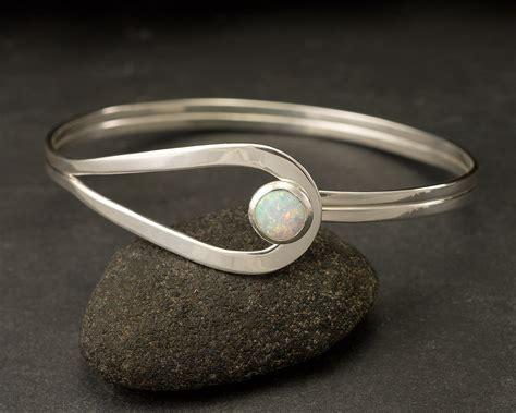 sterling silver opal bracelet sterling silver latch bracelet