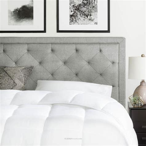 stone headboard brookside upholstered stone king with diamond tufting