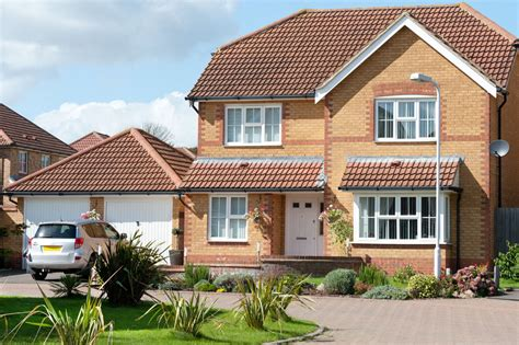 house front design ideas uk newly built detached house with front garden and double