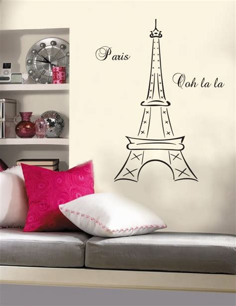 cute teenage girls room decor with eiffel tower theme pink interior design interior decorating ideas