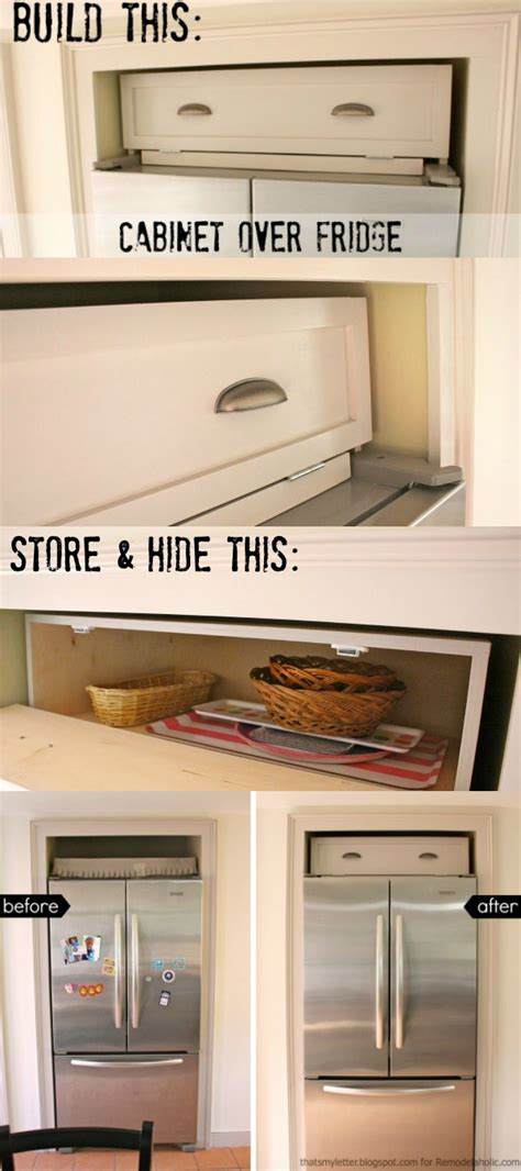 how to build a refrigerator cabinet remodelaholic build a cabinet over the fridge