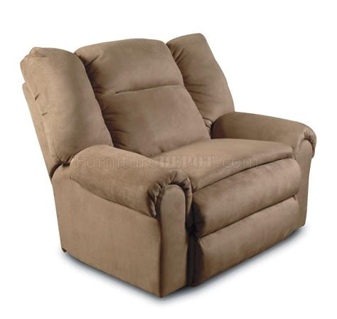 tan recliner tan padded micro suede traditional recliner