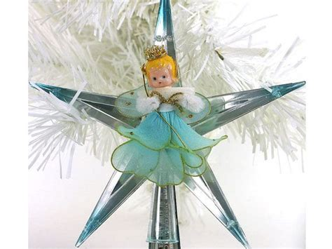 blue angel tree topper 1950s vintage tree topper blue plastic tree topper trees trees