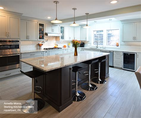 Masterbrand Cabinets One Touch by Light Grey Kitchen With Grey Island Cabinets
