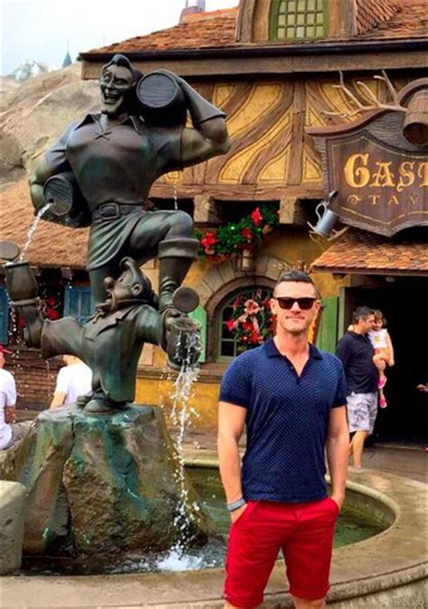 'beauty and the beast' star luke evans visits gaston's