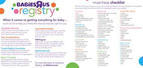 us registry baby registry checklist babies r us style by modernstork