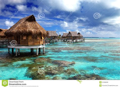 view of the and the house on water tropical island