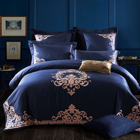 luxury comforter sets for less luxury bedding sets embroidery long stapled cotton 4pcs