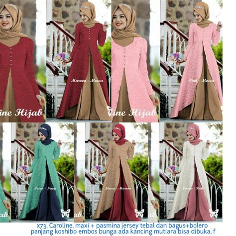 Caroline Dress Maxi jual beli caroline maxi baru gaun dress wanita model