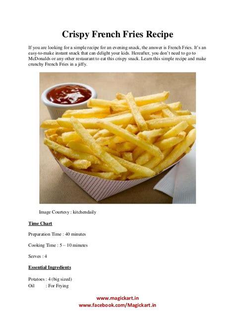 crispy french fries recipe