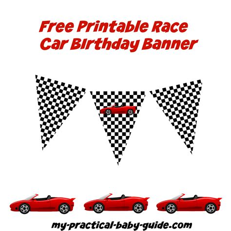 printable racing banner coolest car birthday ideas my practical birthday guide