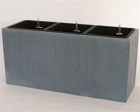 pflanzkübel fiberglas grau pflanztrog blumentrog fiberglas 108x40x50cm grau