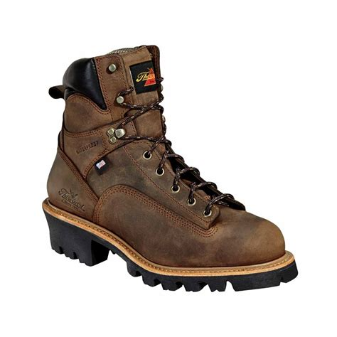 logger boots thorogood 6 inch brown waterproof logger boot