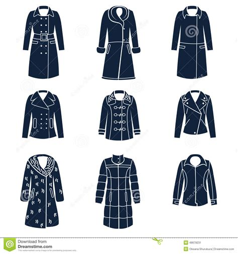 Different Designs Of Shirts Different Types Of Winter Clothes Stock Vector