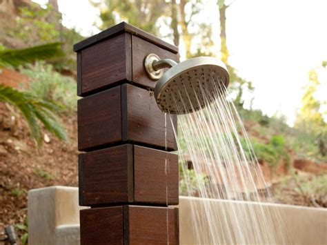 outdoor shower cost design ideas outdoor showers and tubs hgtv