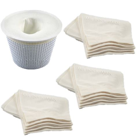 skimmer socks regular 5 pack x 3 pool spa pump filter