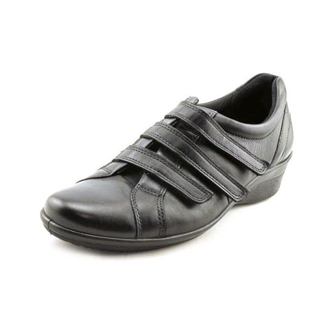 ecco corse leather black walking shoe athletic