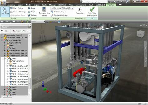 Auto Desk Inventor by Autodesk Inventor Professional 2011 Tubing Piping Routed Systems