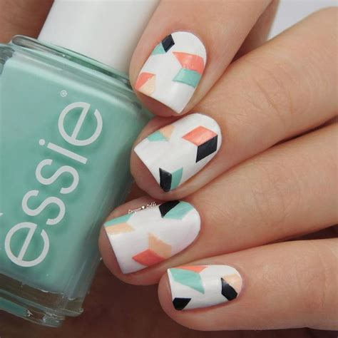 geometric pattern nails best 25 geometric nail art ideas on pinterest nail art