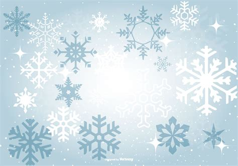Beautiful Blue Snowflake Background Free Vector
