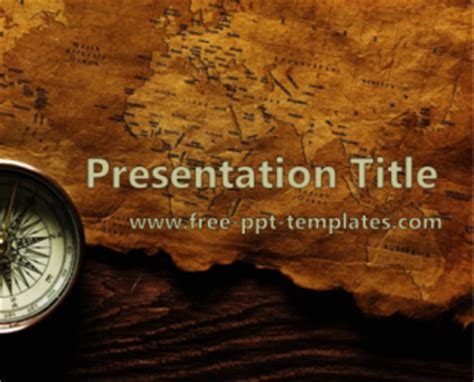 powerpoint themes history free old map ppt template free powerpoint templates