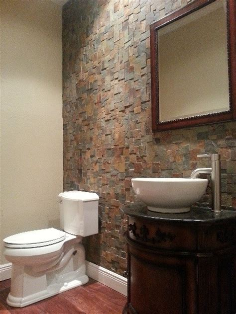 powder bath powder bath rock wall contemporary powder room