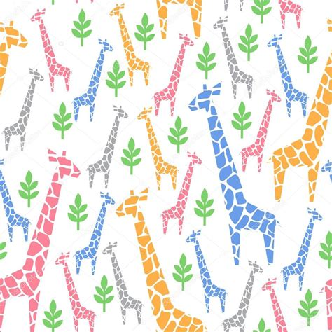 javascript pattern safari giraffes family seamless pattern safari animal background