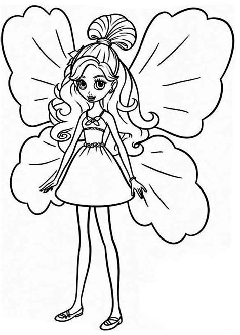 colored coloring pages thumbelina free colouring pages