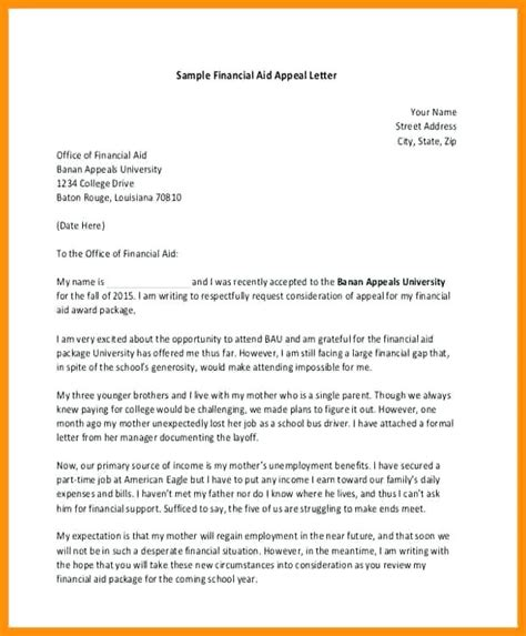 Successful Financial Aid Appeal Letter Exle cool writing a bill template gallery exle resume