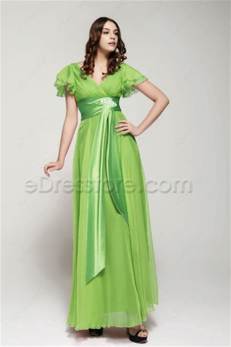 Sleeve Green Lime modest lime green prom dresses with sleeves