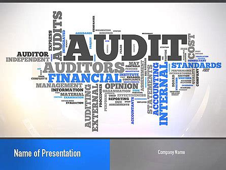 Audit Theme Ppt Free Download | audit word cloud presentation template for powerpoint and