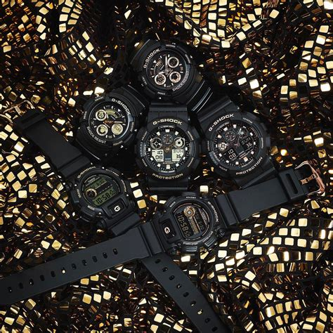 Casio Aw 591gbx 1a4 g shock aw 591 dw 9052 and ga 100 black gold series