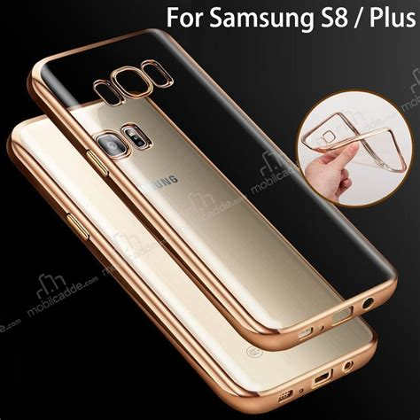 Soft Cafele Original Samsung S8 Plus Tpu Silikon Ultrathin samsung galaxy s8 plus siyah kenarlı şeffaf silikon kılıf