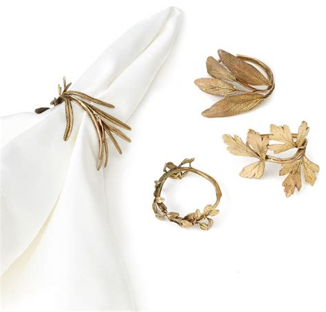 Assorted Herb Napkin Rings   Contemporary   Napkin Rings