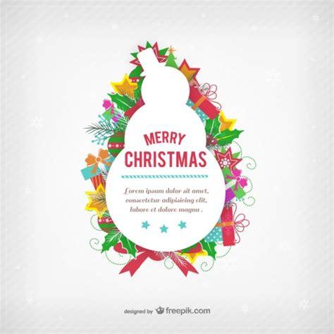 Kostenlose Vorlage Weihnachtskarte Weihnachtskarte Vorlage Mit Schneemann Silhouette Der Kostenlosen Vektor
